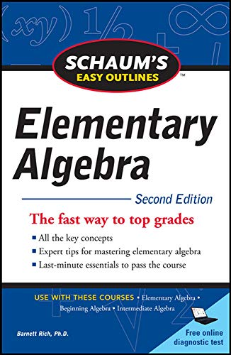 9780071745833: Schaum's Easy Outline of Elementary Algebra, Second Edition (Schaum's Easy Outlines)
