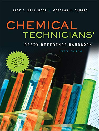 9780071745925: Chemical Technicians' Ready Reference Handbook, 5th Edition