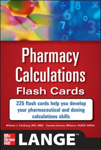 9780071746359: Pharmacy Calculations Flash Cards