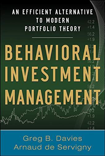 9780071746601: Behavioral Investment Management: An Efficient Alternative to Modern Portfolio Theory (Professional Finance & Investment)