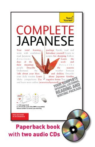 9780071747851: Complete Japanese: From Beginner to Intermediate [With Paperback Book] (Teach Yourself: Language)