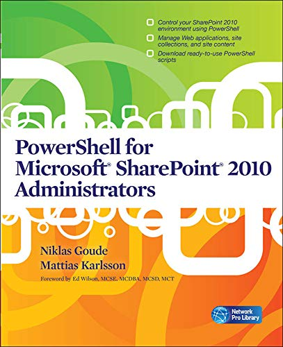 9780071747974: PowerShell for Microsoft SharePoint 2010 Administrators