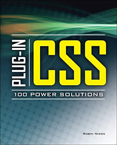 9780071748766: Plug-In CSS 100 Power Solutions (Programming & Web Development - OMG)