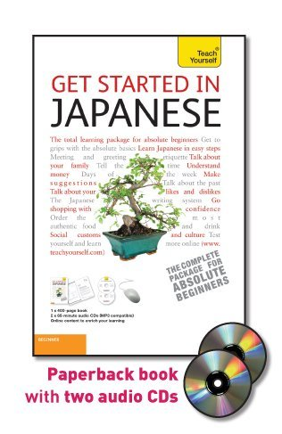 9780071749787: Get Started in Japanese with Two Audio CDs: A Teach Yourself Guide
