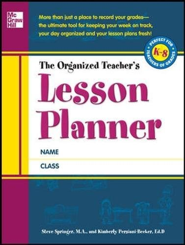 9780071754651: The Organized Teacher's Lesson Planner