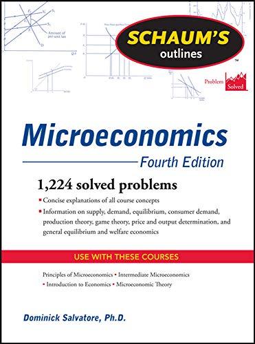 9780071755450: Schaum's Outline of Microeconomics, Fourth Edition (Schaum's Outlines)