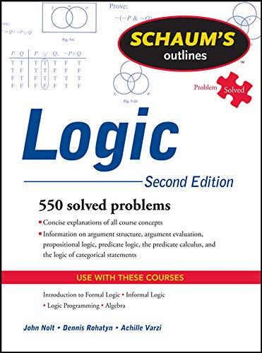 9780071755467: Schaum's outline of logic