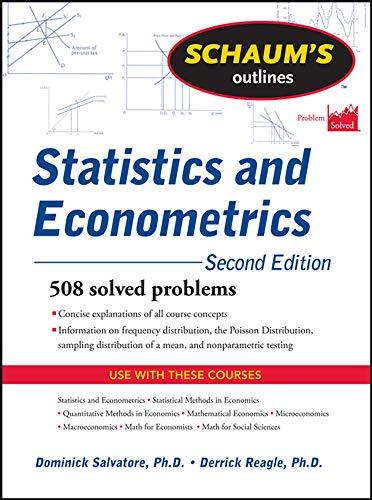9780071755474: Schaum's Outline of Statistics and Econometrics, Second Edition (Schaum's Outline Series)