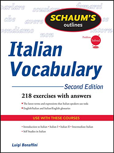 9780071755481: Schaum's Outline of Italian Vocabulary, Second Edition (Schaum's Outline Series)