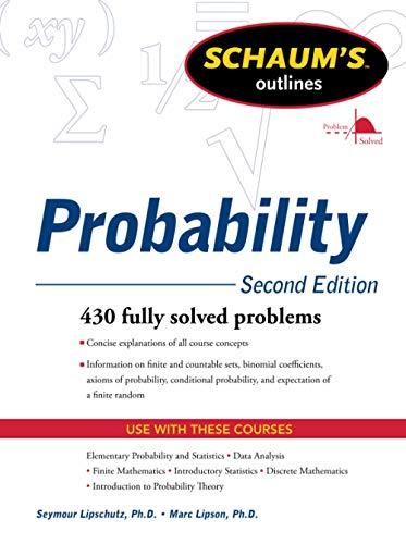 9780071755610: Schaum's Outline of Probability, Second Edition (Schaum's Outline Series)