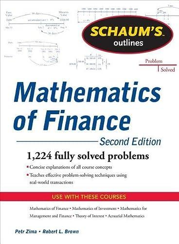 9780071756051: Schaum's Outline of  Mathematics of Finance, Second Edition (Schaum's Outline Series)