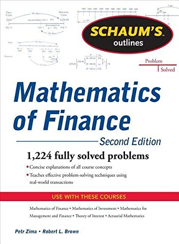 9780071756051: Schaum's Outline of Mathematics of Finance, Second Edition (Schaum's Outlines)