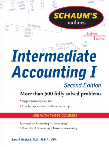 9780071756068: Schaums Outline of Intermediate Accounting I, Second Edition (Schaum's Outlines)