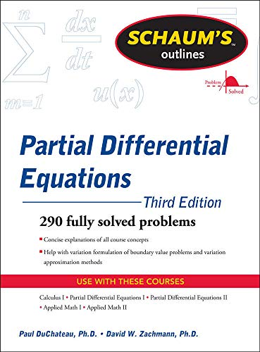 9780071756181: Schaum's Outline of Partial Differential Equations (Schaums' Outline Series)