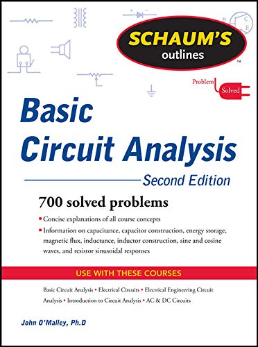 9780071756433: Schaum's Outline of Basic Circuit Analysis, Second Edition (Schaum's Outlines)