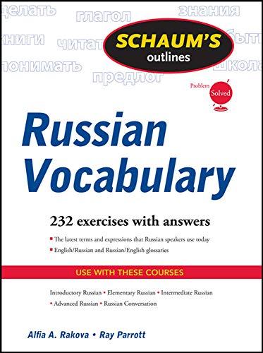 9780071756440: Schaum's Outline of Russian Vocabulary (Schaum's Outlines)