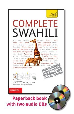 9780071758833: Teach Yourself Complete Swahili: From Beginner to Intermediate [With Paperback Book] (Teach Yourself Language Complete Courses)