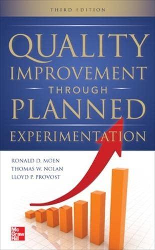 9780071759663: Quality Improvement Through Planned Experimentation 3/E