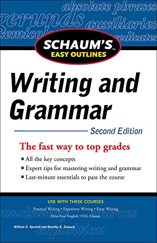 9780071760577: Schaum's Easy Outline of Writing and Grammar, Second Edition (Schaum's Easy Outlines)