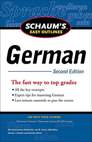 9780071760584: Schaum's Easy Outline of German, Second Edition (Schaum's Easy Outlines)