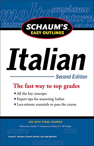 9780071760591: Schaum's Easy Outline of Italian, Second Edition (Schaums' Humanities Social Science)