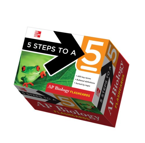 9780071760706: 5 Steps to a 5: AP Biology Flashcards