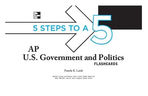 9780071760713: 5 Steps to a 5 AP U.S. Government and Politics Flashcards (5 Steps to a 5 on the Advanced Placement Examinations Series)