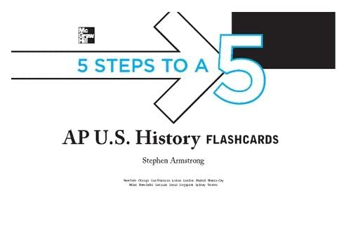 9780071760720: 5 Steps to a 5 AP U.S. History Flashcards (5 Steps to a 5 on the Advanced Placement Examinations)