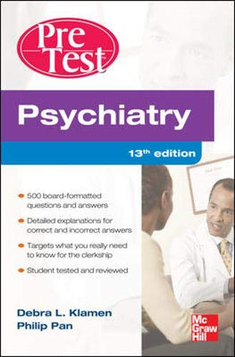 9780071761017: Psychiatry PreTest Self-Assessment And Review, Thirteenth Edition