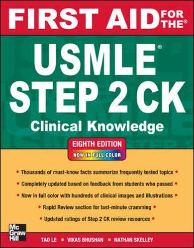 9780071761376: First Aid for the USMLE Step 2 CK, Eighth Edition (First Aid for the USMLE Step 2: Clinical Knowledge)