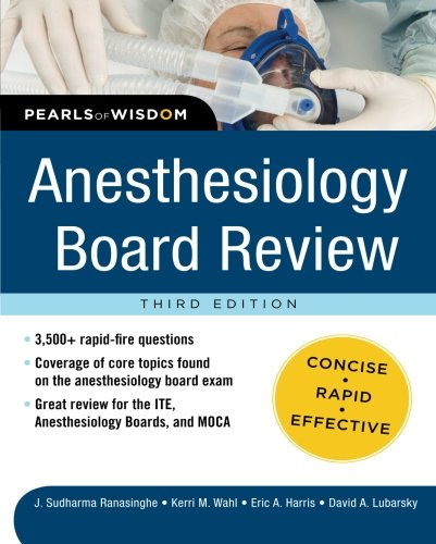 9780071761451: Anesthesiology Board Review Pearls of Wisdom 3/E (Pearls of Wisdom Medicine)