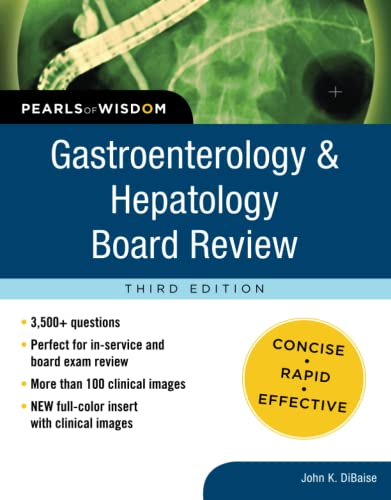 9780071761666: Gastroenterology and Hepatology Board Review: Pearls of Wisdom, Third Edition (Pearls of Wisdom Medicine)