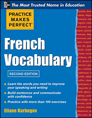 9780071762427: Practice Make Perfect French Vocabulary (Practice Makes Perfect Series)