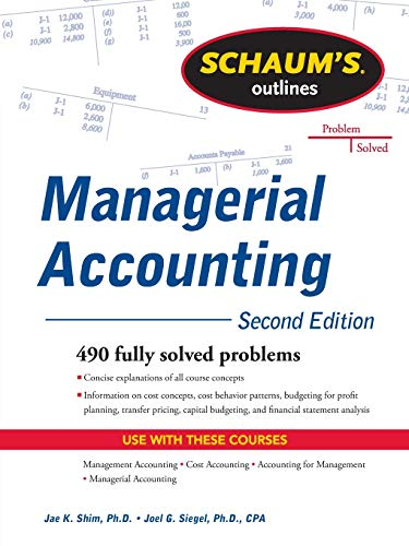 9780071762526: Schaum's Outline of Managerial Accounting, 2nd Edition (Schaum's Outlines)