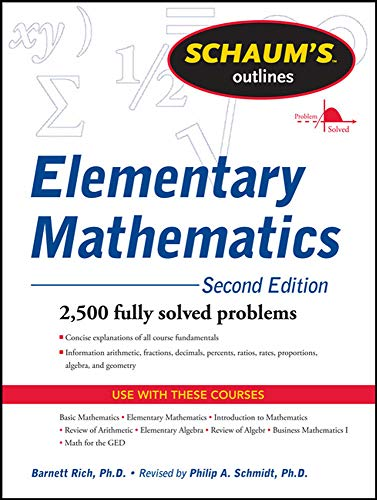 9780071762540: Schaum's Outline of Review of Elementary Mathematics, 2nd Edition