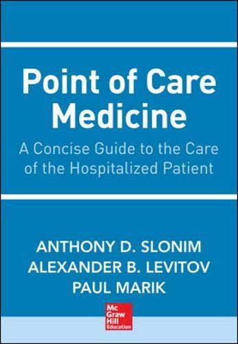 Point of Care Medicine: Levitov, Alexander, Slonim,