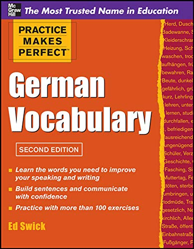 9780071763011: Practice Makes Perfect German Vocabulary (Practice Makes Perfect Series)