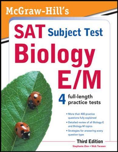 9780071763332: McGraw-Hill's SAT Subject Test Biology E/M, 3rd Edition (McGraw-Hill's SAT Biology E/M)