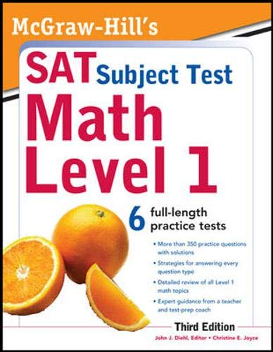 9780071763370: McGraw-Hill's SAT Subject Test Math Level 1, 3rd Edition (McGraw-Hill's SAT Math Level 1)