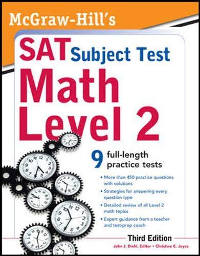9780071763677: McGraw-Hill's SAT Subject Test Math Level 2, 3rd Edition (McGraw-Hill Education SAT Subject Test Math Level 2)