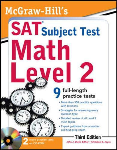 9780071763707: McGraw-Hill's SAT Subject Test Math Level 2 With CD-ROM, 3rd Edition (McGraw-Hill's SAT Math Level 2 (W/CD))