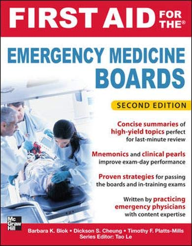 9780071764001: First Aid for the Emergency Medicine Boards 2/E (First Aid Series)
