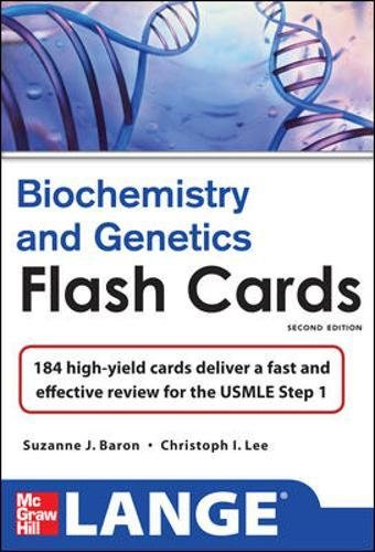 9780071765800: Lange Biochemistry and Genetics Flash Cards 2/E (LANGE FlashCards)