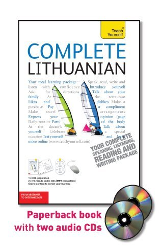 9780071765978: Complete Lithuanian with Two Audio CDs: A Teach Yourself Guide (Teach Yourself Language)