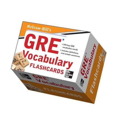9780071766401: McGraw-Hill's GRE Vocabulary Flashcards