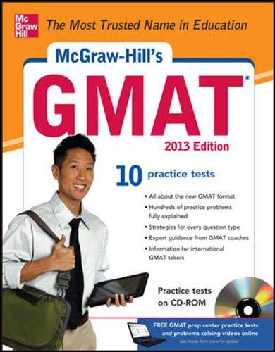 9780071766975: McGraw-Hill's GMAT with CD-ROM 2013 Edition (McGraw-Hill's GMAT (W/CD))