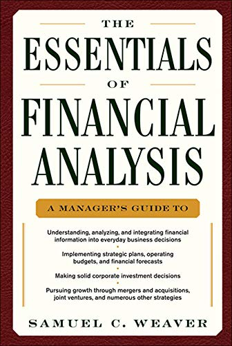 9780071768368: The Essentials of Financial Analysis (General Finance & Investing)