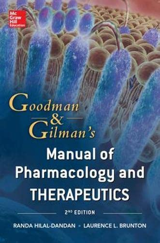 9780071769174: Goodman & Gilman's manual of pharmacology and therapeut