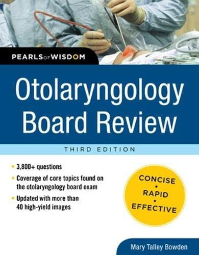 9780071769686: Otolaryngology Board Review: Pearls of Wisdom, Third Edition
