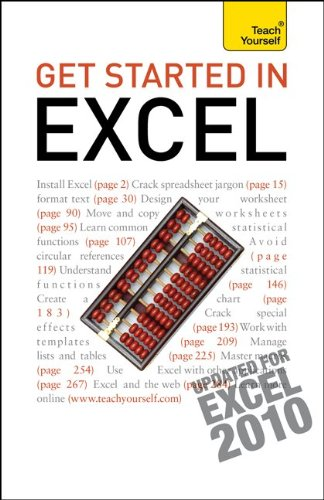 9780071769815: Get Started with Excel 2010 (Teach Yourself (McGraw-Hill))